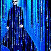 Matrix Neo Keanu Reeves 2 Art Print
