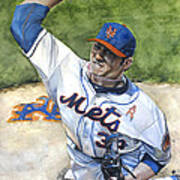 Matt Harvey Art Print by Michael  Pattison