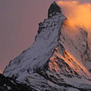 Matterhorn At Sunset Art Print by Jetson Nguyen