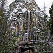 Matterhorn Mountain With Bobsleds At Disneyland Art Print