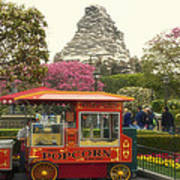 Matterhorn Mountain With Hot Popcorn At Disneyland 01 Art Print