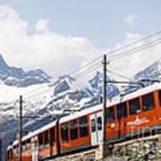 Matterhorn Railway Zermatt Switzerland Art Print by Matteo Colombo