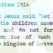 Matthew 19 Art Print