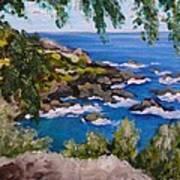 Maui Cliff Art Print