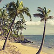 Maui Lu Beach Hawaii Art Print