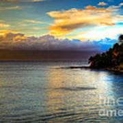 Maui Palm Sunset Art Print