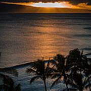 Maui Sunset 1 Art Print