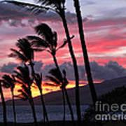 Maui Sunset Art Print