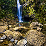 Maui Waterfall Art Print by Adam Romanowicz