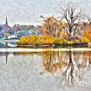 Maumee River Looking Toward Perrysburg Art Print