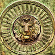 Mausoleum Lion Art Print