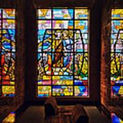 Mausoleum Stained Glass 01 Art Print