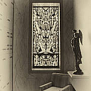 Mausoleum Stained Glass 02 Art Print