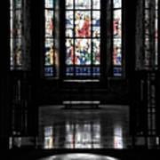Mausoleum Stained Glass 05 Art Print