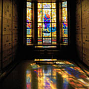 Mausoleum Stained Glass 06 Art Print