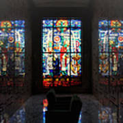 Mausoleum Stained Glass 07 Art Print