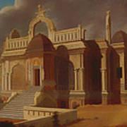 Mausoleum With Stone Elephants Art Print