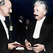 Max Planck And Albert Einstein Art Print