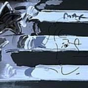 Max Stars And Stripes In Cyan Art Print