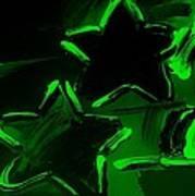Max Two Stars In Green Art Print