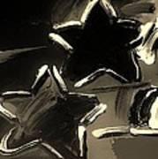 Max Two Stars In Sepia Art Print