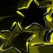 Max Two Stars In Yellow Art Print