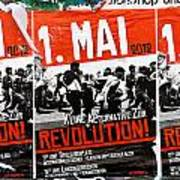 May Day 2012 Poster Calling For Revolution Art Print