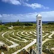 May Peace Prevail On Earth Peace Labyrinth Aruba Art Print