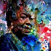 Maya Angelou Paint Splash Art Print