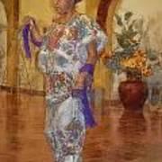 Maya Woman-mexico V2 Art Print