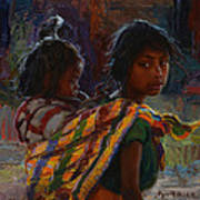 Mayan Colors Art Print