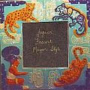 Mayan Jaguar Frame Art Print by Charles Lucas
