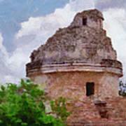 Mayan Observatory Art Print