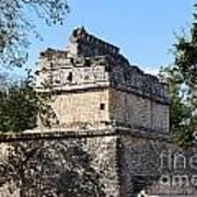 Mayan Ruin At Chichen Itza Art Print