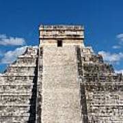 Mayan Temple Pyramid At Chichen Itza Art Print
