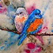 Maybe She's A Bluebird Art Print