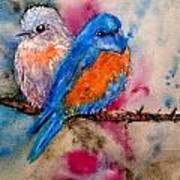 Maybe She's A Bluebird Cropped Art Print