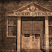 Mayberry Courthouse Art Print