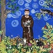 May's St. Francis Art Print by Sue Betanzos