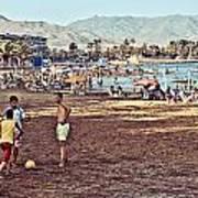 Mazarron Beach - Murcia Spain Art Print