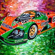 Mazda 787b.1991 Le Mans Winner. Art Print