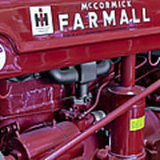 Mc Cormick Farmall Super C Art Print by Susan Candelario