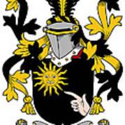 Mcbrady Coat Of Arms Irish Art Print