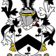 Mcbray Coat Of Arms Irish Art Print