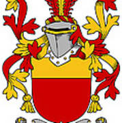 Mccarron Coat Of Arms Irish Art Print