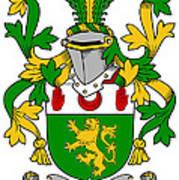 Mccartan Coat Of Arms Irish Art Print