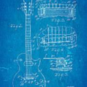 Mccarty Gibson Les Paul Guitar Patent Art 1955 Blueprint Art Print