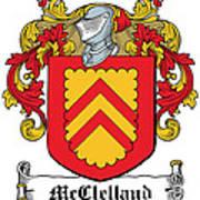 Mcclelland Coat Of Arms Ulster Ireland Art Print