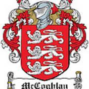 Mccoghlan Coat Of Arms Irish Art Print