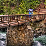 Mcdonald Creek Bridge Art Print